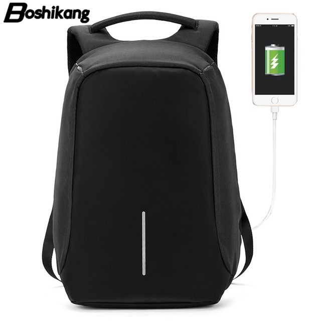 Boshikang Korea Style Men Backpack Oxford Fashion Casual Brand Backpack for Male Laptop Notebook 15.6inch School Backpack