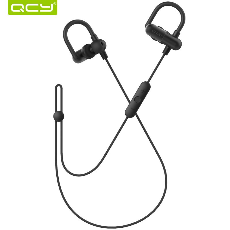 QCY 90mAh battery 3D stereo headset gamer bluetooth 4.1 wireless headphones sports ear hook with microphone handsfree calls