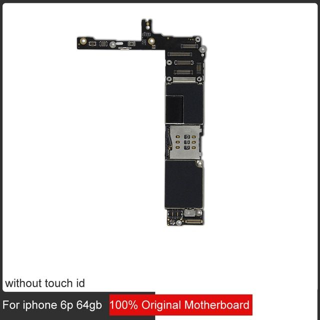 with ios system for iphone 6 plus motherboard,64gb original unlocked for iphone 6 plus logic boards without touch id