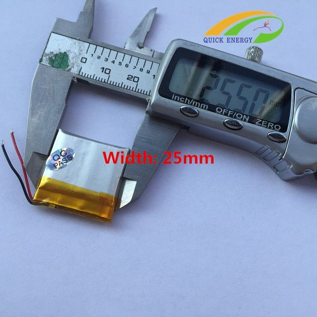 Shun 500mAh 652525 3.7V thium polymer battery 602525 MP3 point pen remote control