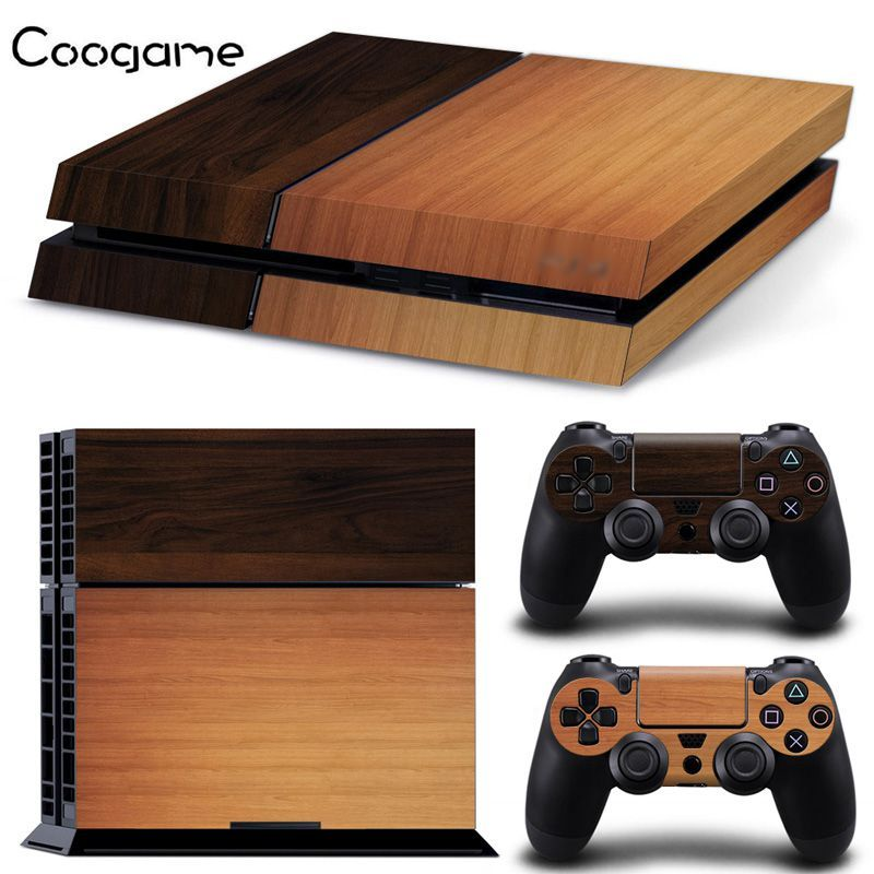 New Design Wood Grain Sticker For Ps4 Skin For Play Station 4 Controller Decal