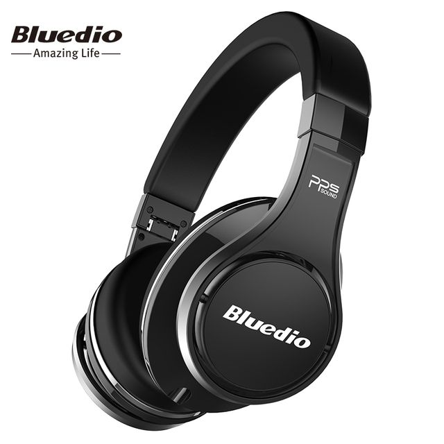 Bluedio U(UFO) Bluetooth headphones original  Patented 8 Drivers 3D Sound headphone HiFi Over-Ear wireless headset for Xiaomi