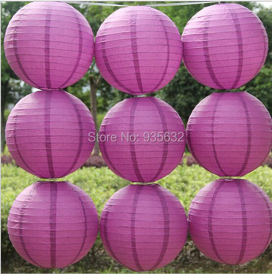 Party Wedding Decorations 200pcs 12'' 30cm Cheap Chinese Paper Lanterns white purple orange yellow green pink
