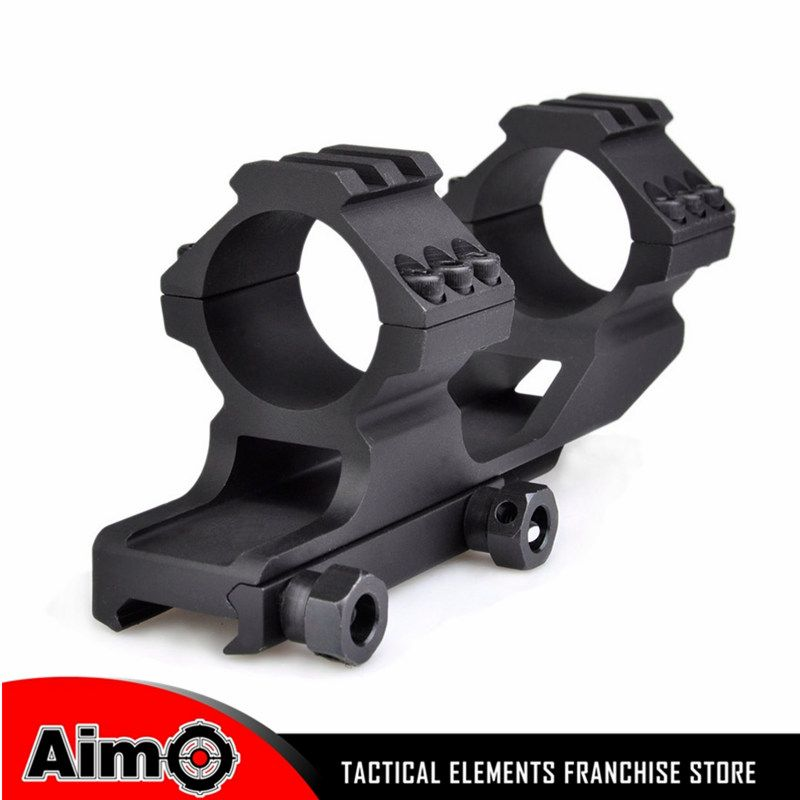 Aim Optics 25mm 30mm Double Scope Rings Dual 1 Piece Cantilever Scope Mount 20mm Tactical Hunting Rail Mount AO9002