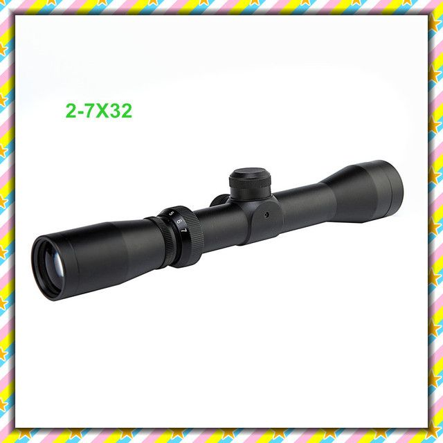 Free shipping New 2-7x32 AO Outdoor Sports Riflescope Outing Tactical Hunting Rifle Scope