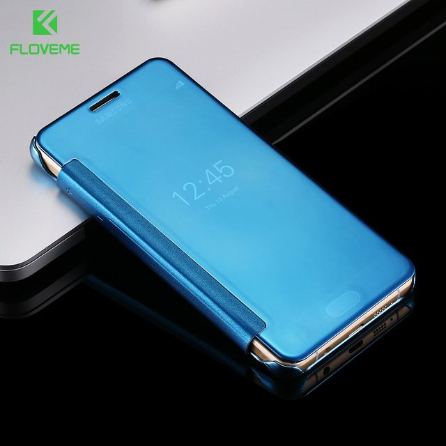 FLOVEME For Samsung A3 A5 A7 J5 2017 Leather Plating Mirror Case For Samsung Galaxy J1 J5 J7 2016 A3 A5 A7 2016 Accessories Capa