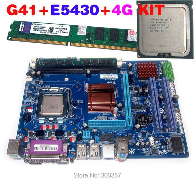 NEW Micro-ATX intergrated LGA 771 G41 Motherboard kit with E5430 CPU,ddr3 1333 4G