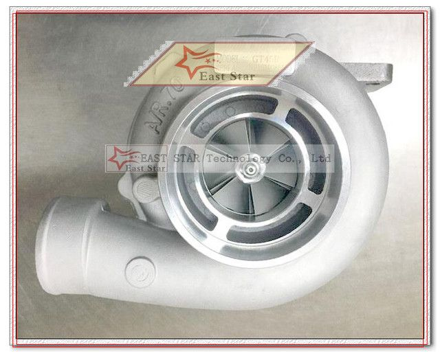 TURBO GT45R Universal Turbocharger T4 Flange compressor: a/r. 70 turbine: a/r 1.0 Exhaust Oulet 4'' V-band clamp 400HP-500HP