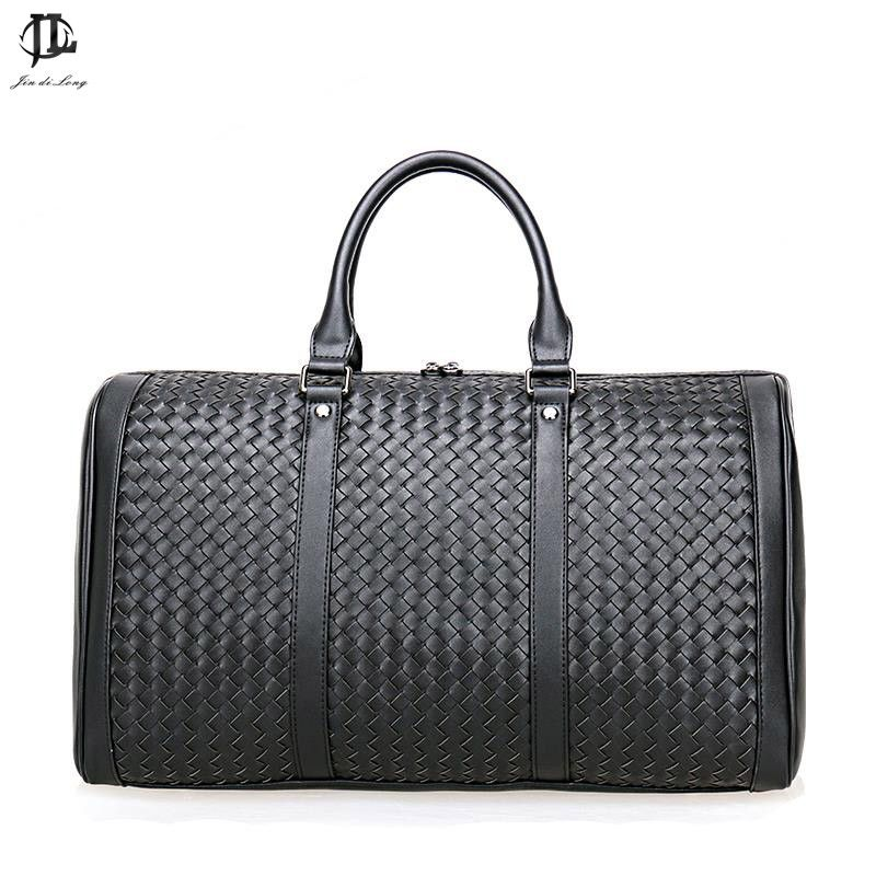 Brand Prius Genuine Leather Travel bag Men Duffel Bag Luggage Travel weave Bag Large Men Leather Duffle Bag Tote Big