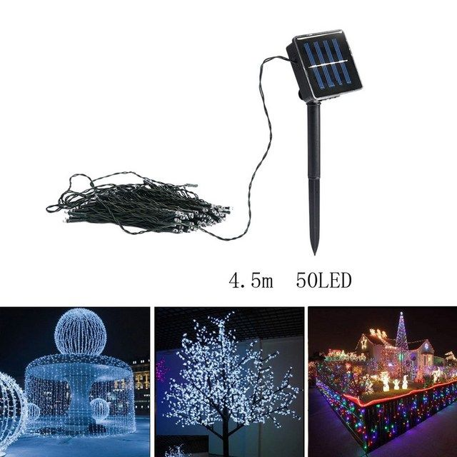 50-100 LEDs Solar Power Fairy Lights Christmas Lighting New Year Wedding Party 4.5-10 m Garden Tree Decoration String Lamp