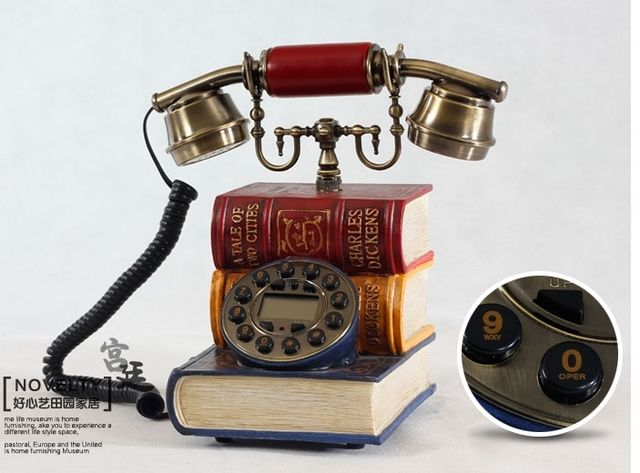 antique telephone elegant retro style vintage telephone with just like books red blue telephone home phone telephone vintage
