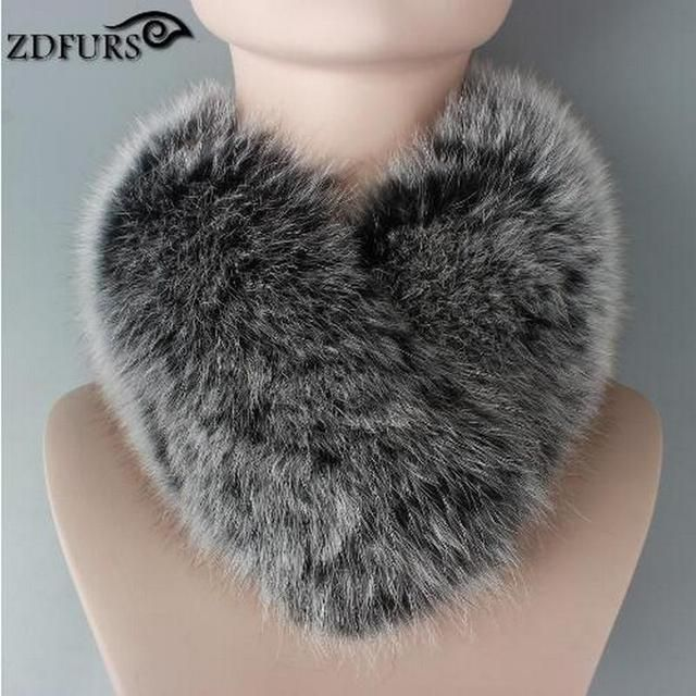 2016 New Arrival Fox Fur Scarf Fashion Women Fur Ring 53CM