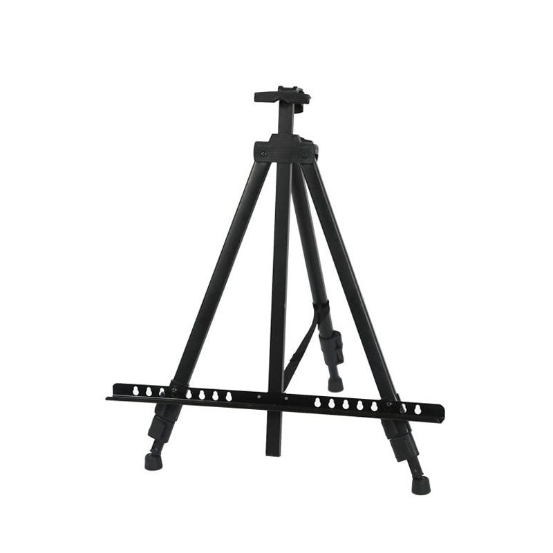 Black Folding Artist Tripod Easel Adjustable High Qualtiy Material Carry Bag for Sketch Painting Drawing Stand Hand Telescopic