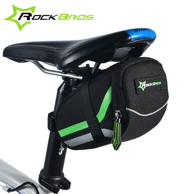 RockBros Bicycle Bag Anti-scratch Mountain Road Bike Bag Reflective Cycling Rear Seat Saddle Bag Tail Bags Bycicle Accessories