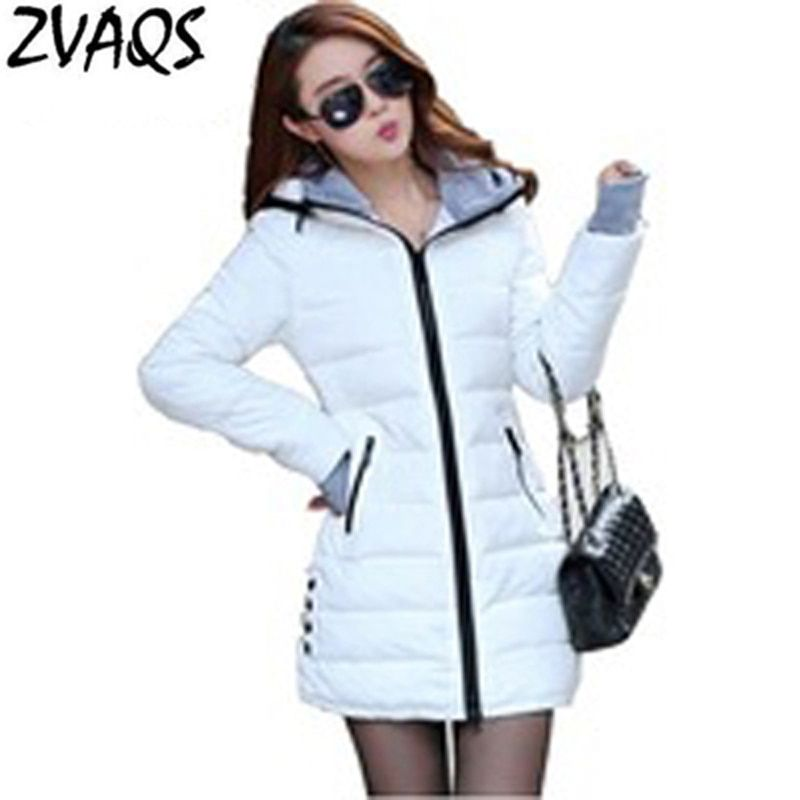 Wadded Jacket Female 2018 New Women's Winter Jacket Down Cotton Jacket Slim Parkas Ladies Coat Plus Size XS-XXL BL0214