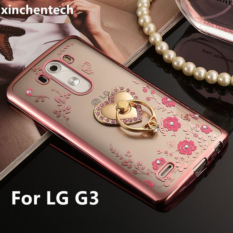 Xinchentech For LG G3 Case Luxury Plating TPU silicone soft Cover Fundas For LGG3 G 3 D855 D850 F400 Accessory Coque(5.5inch)