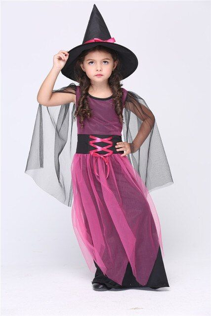 New Arrival! Kids Halloween costumes children suit Girl's halloween witch costume