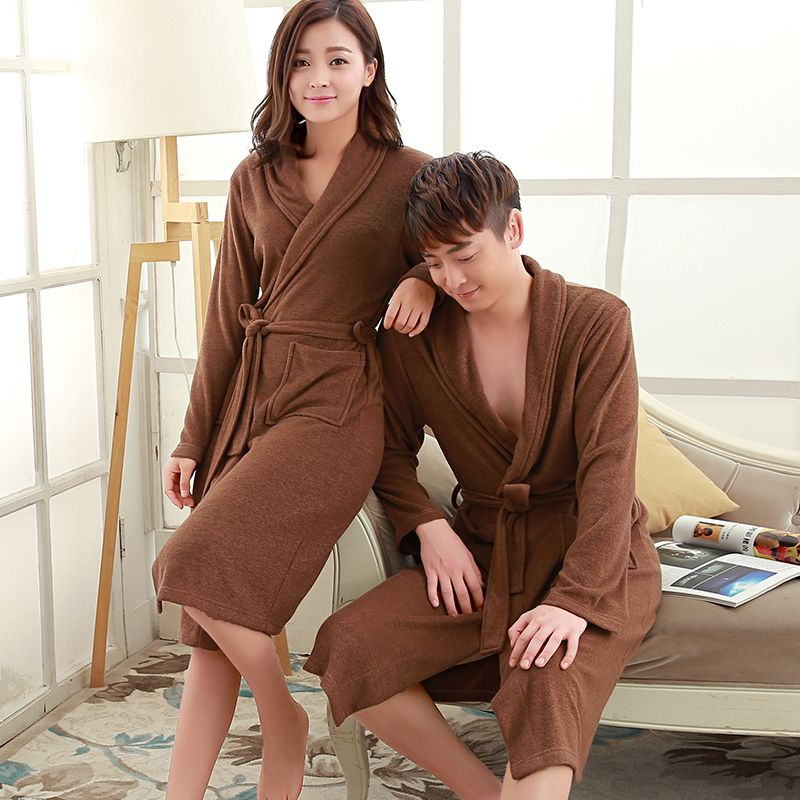 On Sale Men's Suck Sweat Long Towel Bathrobe Summer Kimono Terry Bath Robe Mens Dressing Gown Male Lounge Robes Man Bathrobes