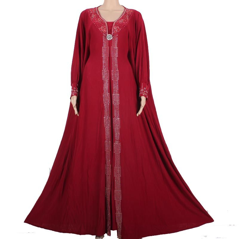 Appliques New Jilbabs And Abayas Caftan Arab Garment Abaya Turkey In The Middle East Muslim Women Dress Fashion Large Size 8335