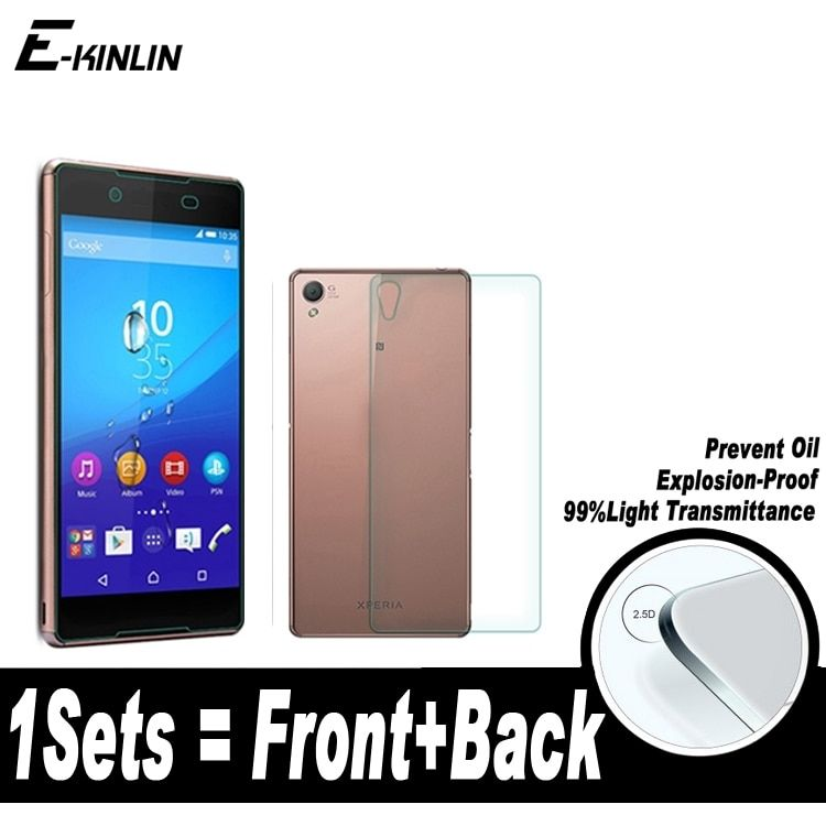 Front+Back Rear Screen Protector Protective Film For Sony Xperia Z Z1 Z2 Z3 Z4 Z5 M4 M5 Compact Mini Plus Premium Tempered Glass
