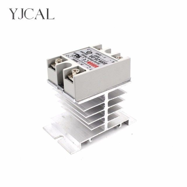 Mini Single Phase Solid State Relay SSR Aluminum Heat Sink Dissipation Radiator Newest Rail Mount For 10A-40A Relay