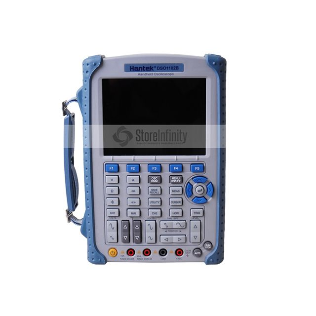 "Portable Hantek DSO1102B Digital Oscilloscope USB Host Probe 5.6"" TFT Color LCD Multimeter 100 MHz 1Gsa/S Handheld Automotive"