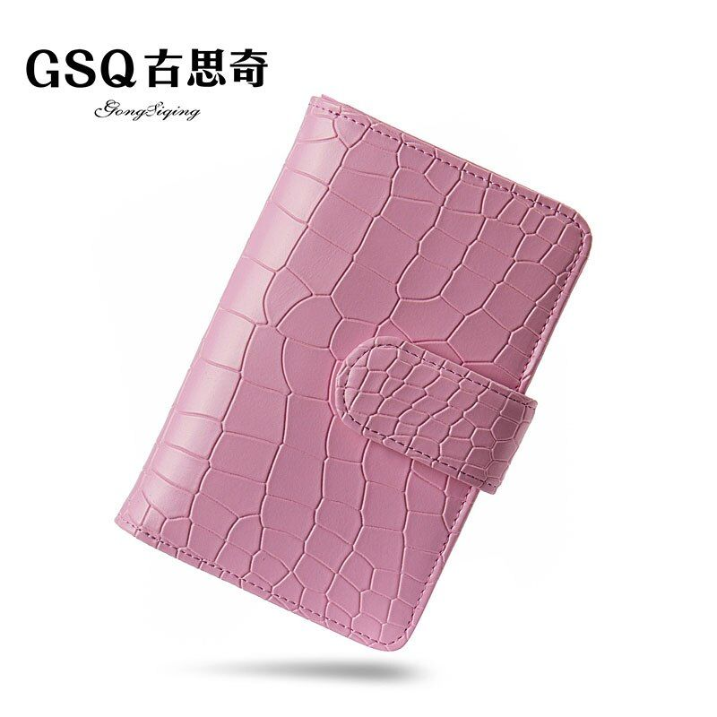 GSQ Hot Women Wallet Fashion Pattern Bag Famous Brands Designer High Quality Leather Wallet Lady Handbag With Coin Pocket N1105