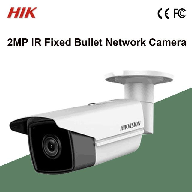 NEW DS-2CD2T25FWD-I8 Hik 2MP Bullet IP Camera Ultra-Low light Face Detection H.265,H.265+,H.264+,H.264 IR50m Max 1920x1080@30fps