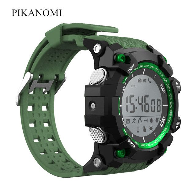Fashion Bluetooth Smart Watch Passometer Thermometer UV Testing Outdoor Sport Watch 30M Waterproof Wristwatch IOS Android Watch