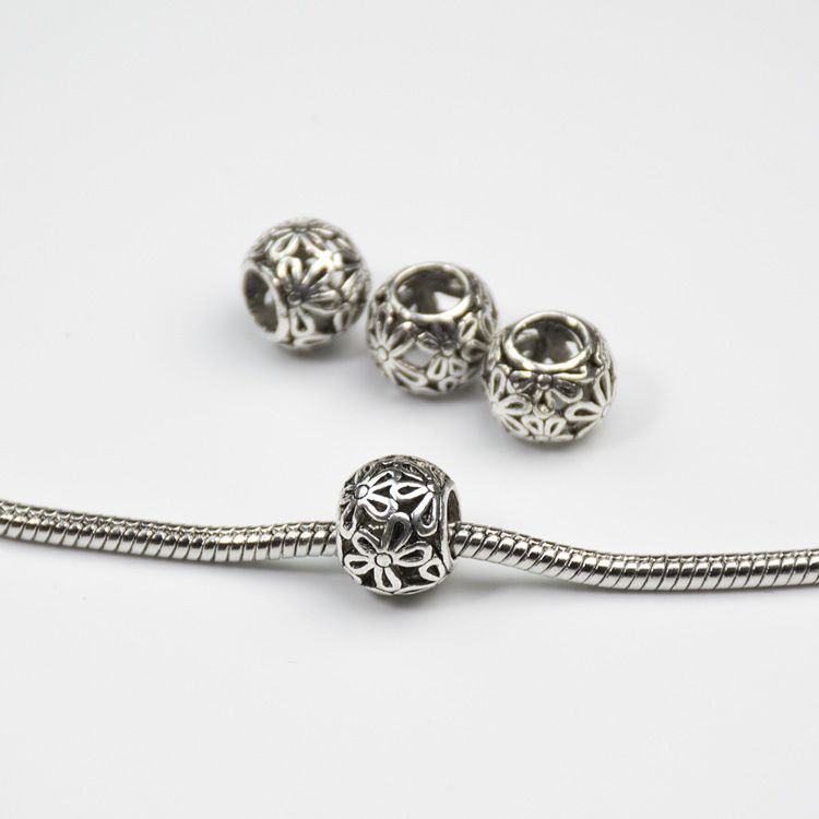 Daisies Murano Flower Heart  European  Beads Diy Bead Charms Fit Pandora Bracelets & Bangles B00005
