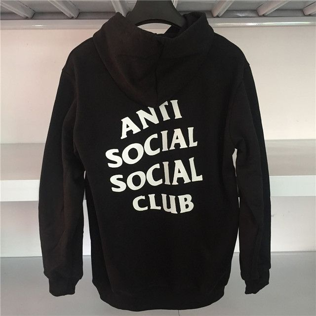Anti Social Social Club Hoodies Kanye Hoodie Pink black white Hip Hop Sweatshirt High Quality Anti Social Social Club Hoodies