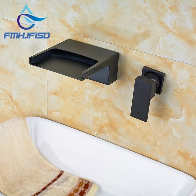 3 Types Water Taps New Arrival Bathroom Faucet with Waterfall Widespread Spout Oil Rubbed Bronze