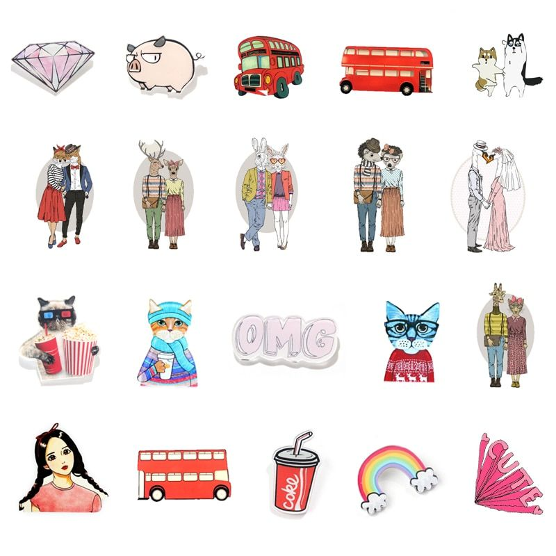 1 PC Brooch Cartoon Animal Acrylic Badges on Backpack Badges for Clothes Decoration Icons Pin Badge