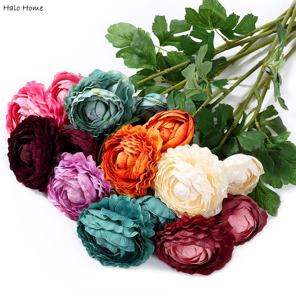1 Piece Artificial Flower Tea Roses fit Decoration Party Home Garden Wedding
