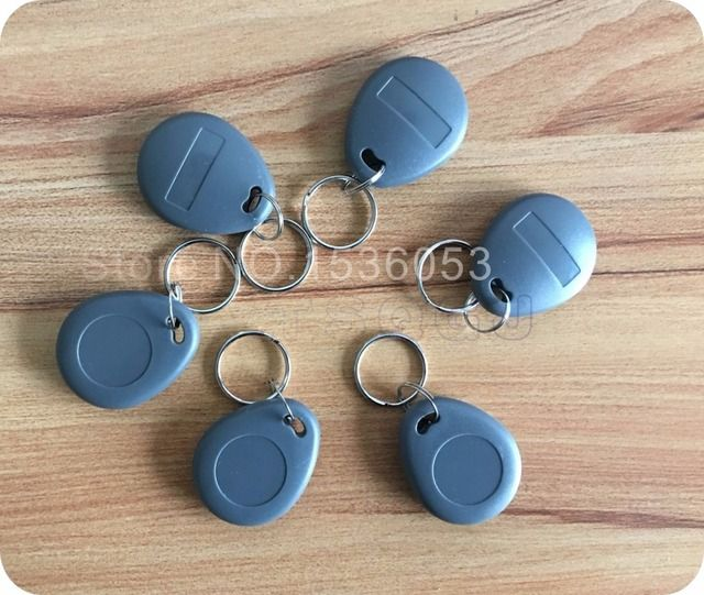 100pcs/lot 13.56MHz rfid tag proximity ABS ic tags nfc 1k tags Keyfobs Keychain Ring Token 13.56Mhz Proximity IC Card