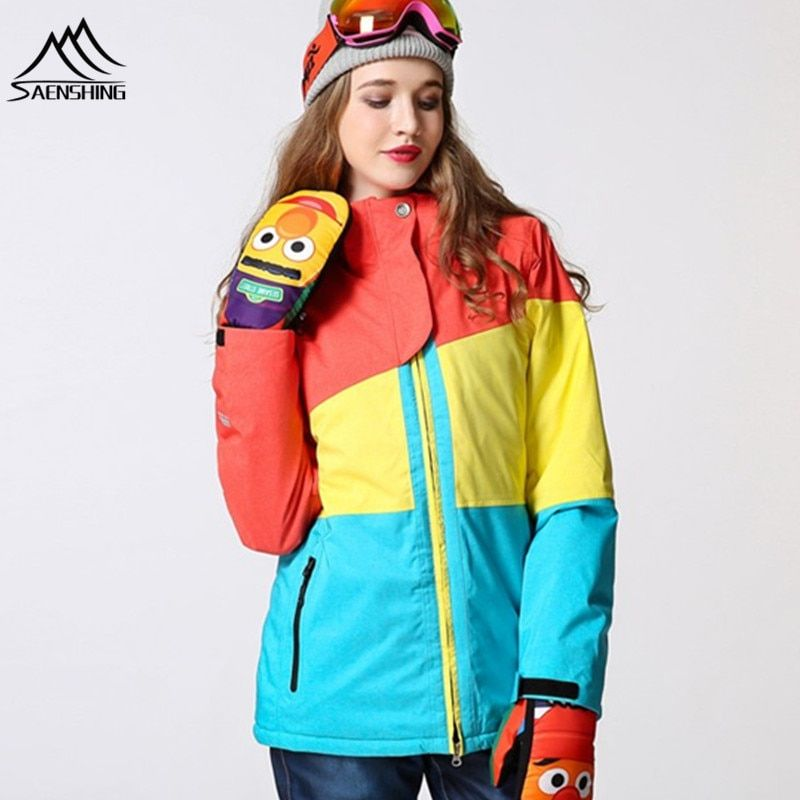 Snowboard Jacket Women Ski Jacket Waterproof Super Warm Snow Coats For Female -30 Degree Breathable Skiing Snowboarding Jackets