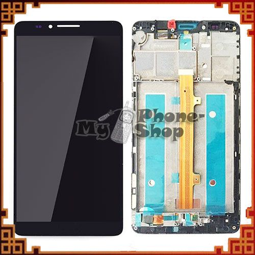 5pcs/lot For Huawei Mate 7 LCD Display Touch Screen Digitizer With Frame Assembly Black/White/Golden Free Shipping by DHL/EMS
