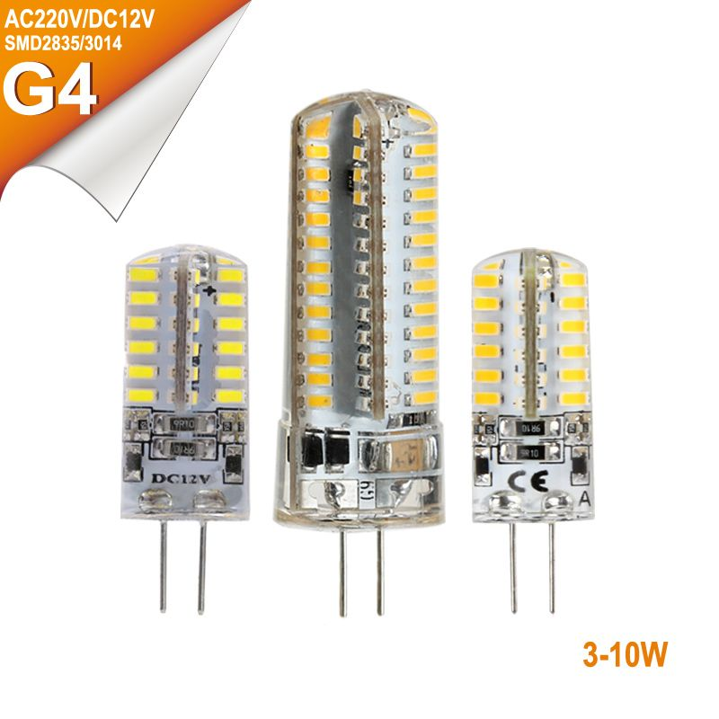 G4 Base LED Bulb Lamp 24L 32L 48L 64L 104L High Power SMD3014 2835 DC12V AC220V Cold/Warm 360 Degrees G4 Corn LED Bulb Light