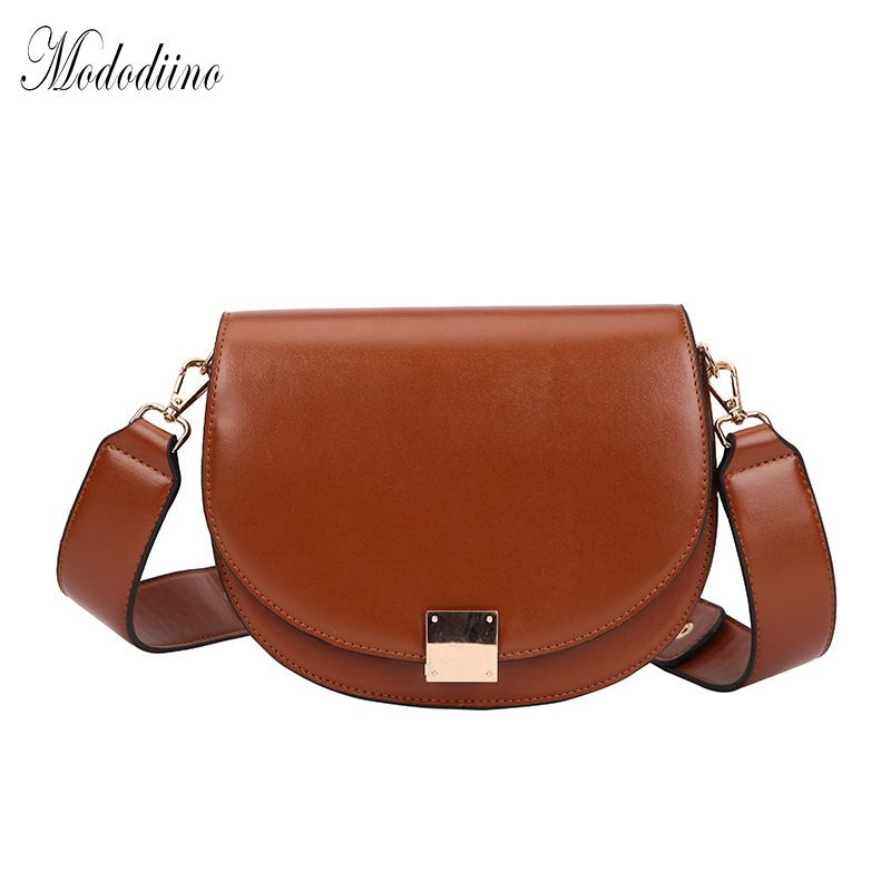 Mododiino Vintage Crossbody Bags For Women 2019  Female Small Saddle Bag Leather Shoulder Bag Luxury Women Bag Designer DNV1057