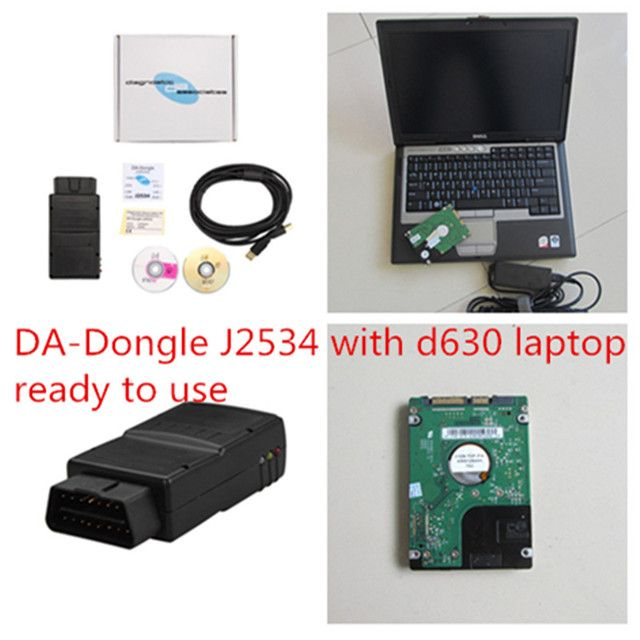 DA-Dongle J2534 SDD VCI with d630 4g laptop for Jaguar & for Land Rover DA Dongle JLR Diagnostic v145 Software installed well