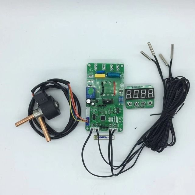 0.39m3/h EEV with 12Vdc controller & 4pcs NTC sensors matches 100~200cm3 cylinder volume open compressor for truck refrigeration