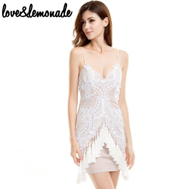 Love&Lemonade Party  Sequins V-Neck Party Dress TB 9199