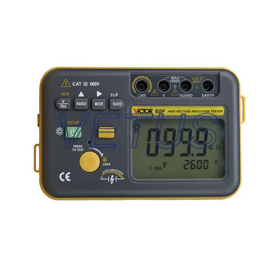 VICTOR 60F VC60F introduction of insulation resistance tester Digital megohmmeter