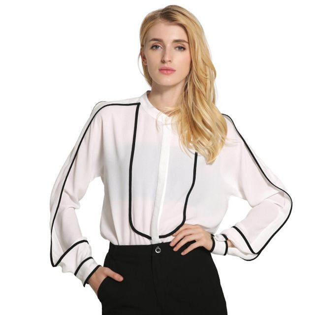 Patchwork Women Tops And Blouses 2016 New Fashion Ladies Office Elegant Shirts China Brand Clothing Camisas Femininas Plug Size