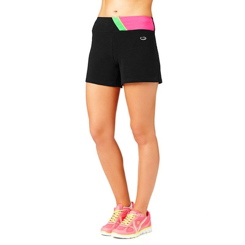 T30 Women Spliced Waistband 3/4 Shorts Quick Drying Yoga Shorts  Sport Short Outdoor Sports Fitness Gym Yoga Running Shorts