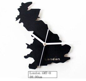 UK London Time British Super Silent Scanning Movement Metal watch, Living Room Wall Clock