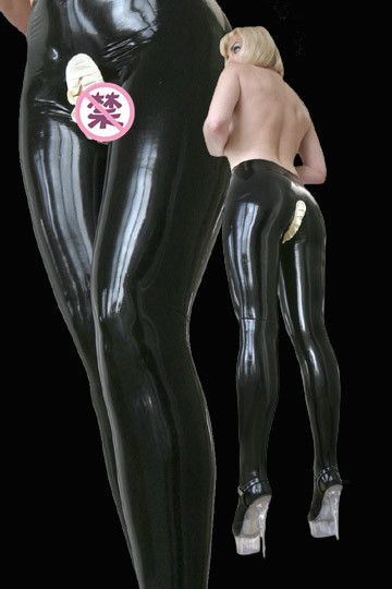 100% Pure Rubber Latex Leggings Open Crotch Latex Panties Open Crotch