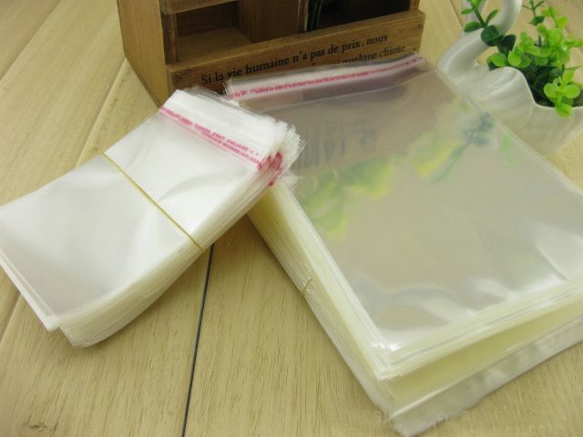 100pcs/lot 30*40cm All Clear Self Adhesive Seal OPP bag-transparency food packing poly bags, all clear coffee bean sack