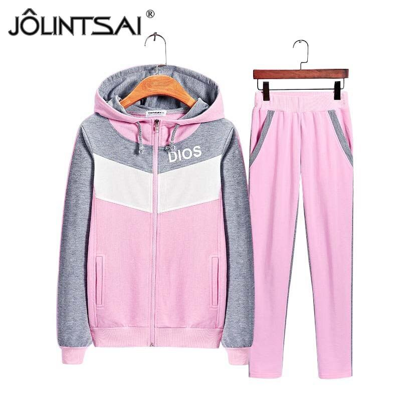 Plus Size Clothing 2017 Autumn Winter Fashion 2 Piece Set Tracksuit For Women Pants And Sweatsuits Sporting Suits