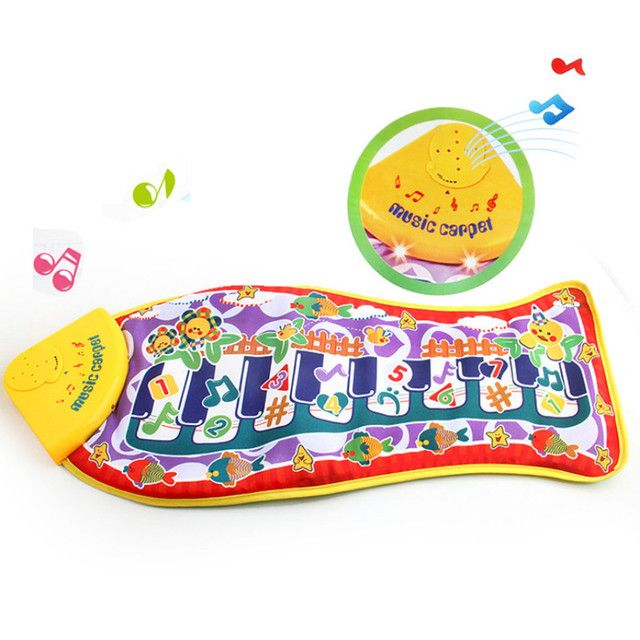 63x28cm Baby Musical Carpet Children Play Mat Electronic Baby Crawling Mat Fish Shape Music Sounds Sings Piano Mat Toys For Kids